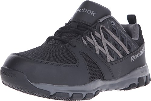 Reebok Men's Leather with Microweb Athletic Oxfords Steel Toe Black 11.5 D ()