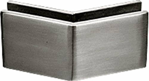 CRL Brushed Stainless 2-3/8 x 2 135 Degree Outside Corner Mall Front Clamp
