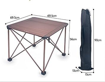 Xing Lin Mesa Al Aire Libre Piscina Mesa Plegable Portátil De Aluminio Ultra-Ligero Picnic