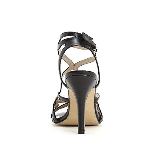 ALESYA by Scarpe&Scarpe - Sandalias altas con correas, de Piel, con Tacones 9 cm Negro