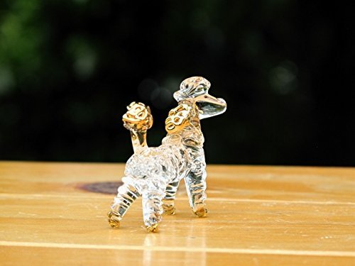 Handmade Poodle Dog Art Glass Blown Pet / Animal Figurine - No.2