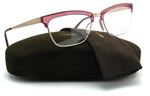 Tom Ford FT5392 Metal Cat Eye Women Eyeglasses (Bordeaux Frame 071, - Ford Tom Cat Eye Reading Glasses