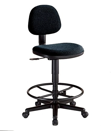 Alvin CH277-40DH Black Comfort Economy Drafting Height Task (Back Molded Foam Task Chair)