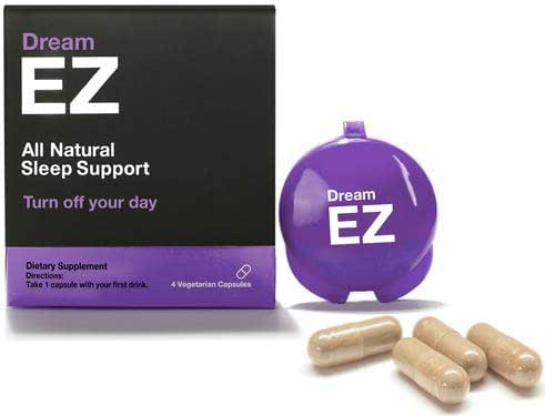 Dream EZ - Natural Sleeping Pills with Valerian Root and Lemon Balm, Supports a Healthy Sleep Cycle, Deep and Restful Sleep, Chamomile, Anti Anxiety Supplement with Melatonin and L-Tryptophan (4)