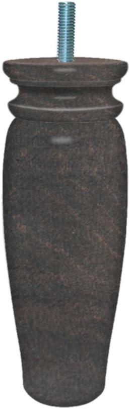 5,5 x 5,5 x 18 cm Madera Margot/ Natural /Royal r/ústico Juego de 4/Patas de somier Madera 5,5/x 5,5/x 18/cm