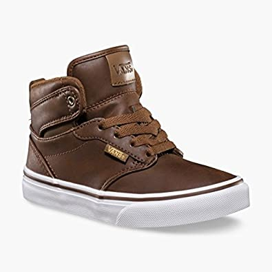 f988147e0353 Vans Kids Y Atwood Hi MTE Brown Coffee Hi Tops Trainers Shoes   Amazon.co.uk  Shoes   Bags