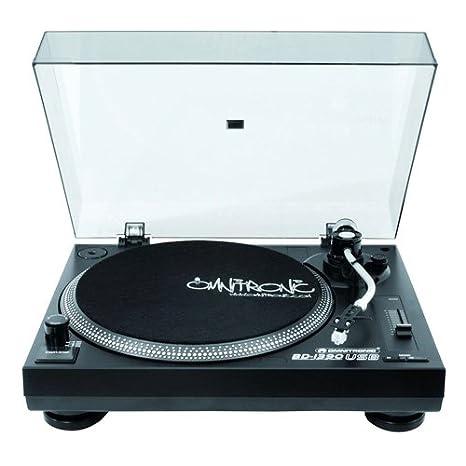 Omnitronic BD-1390 Belt-drive DJ turntable Negro - Tornamesas para dj (Belt-drive DJ turntable, 33 1/3,45 RPM, -10-10%, 0,24%, Manual, 15 dB)
