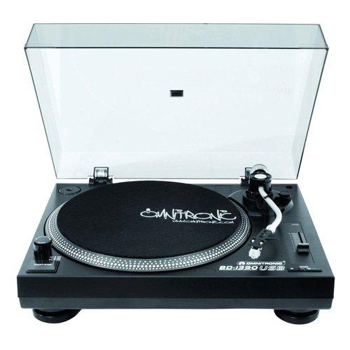 Omnitronic BD-1390 DJ-Plattenspieler, USB, schwarz