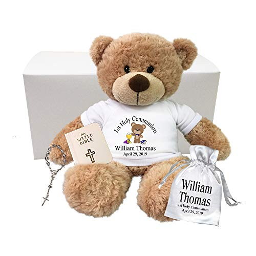 Personalized First Communion Teddy Bear Gift Set - 13 inch Bonny -