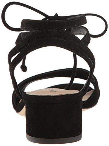 Via Spiga Women's Taryn Block Heel Dress Sandal Black Suede GfeMJh5