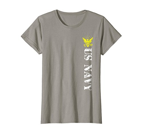 Distressed Emblem T-shirt - Womens US Navy with Distressed Emblem T-Shirt Large Slate