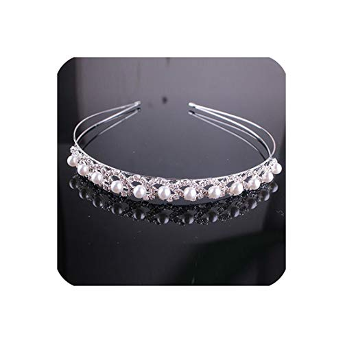 Floral Crown Wedding Hair Jewelry Diadem Head Piece Bridal Hair Ornaments,Imitation Rhodium Plated ()