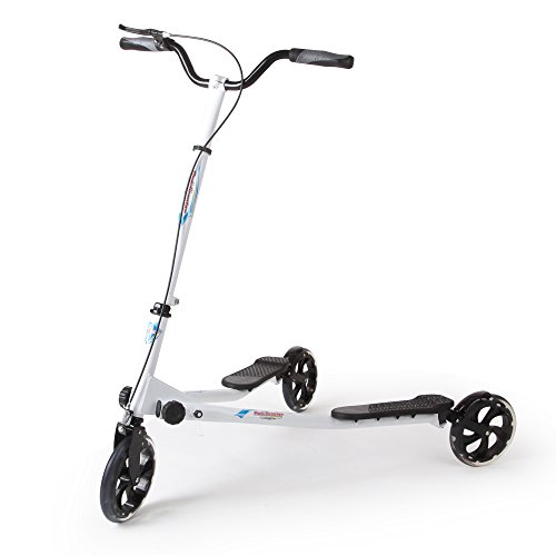 Price comparison product image AODI 3 Wheels Foldable Scooter Push Swing Slider Wiggle Trike Striker Drifter Scooter White for Kids over 9 Year Older - Multiple Colors