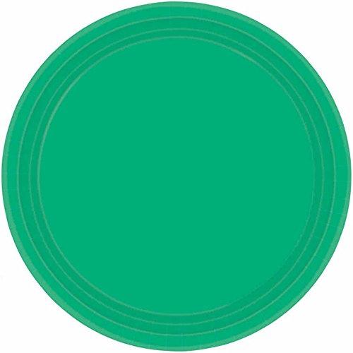 Festive Green Round Paper Plates | 7