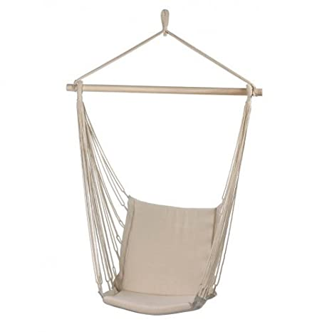 Amazon Com Cotton Padded Swing Chair Garden Outdoor