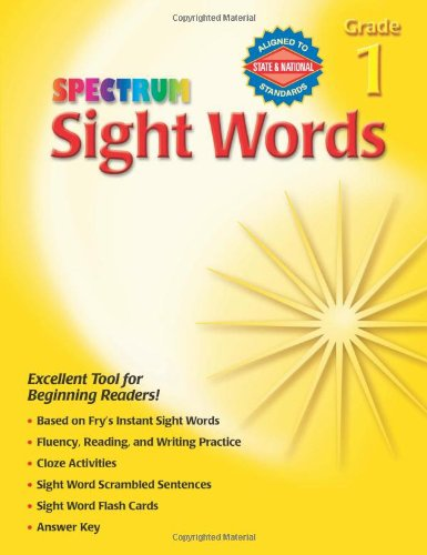 Spectrum Sight Words, Grade 1 (Halloween Literacy Activities Grade 2)