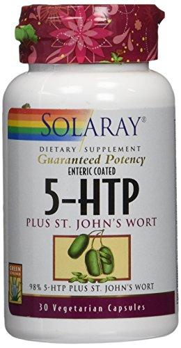 Solaray 5HTP, Plus St John's Wort, 30 Count by Solaray