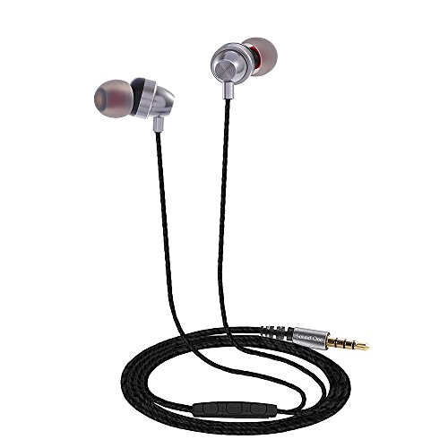 Sound One E10 Earphones with Mic (Silver)