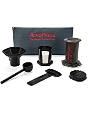 Aerobie AeroPress Coffee and Espresso Maker with Tote Bag - Quickly Makes Delicious Coffee Without Bitterness - 1 to 3 Cups Per Press, Black (82R11)
