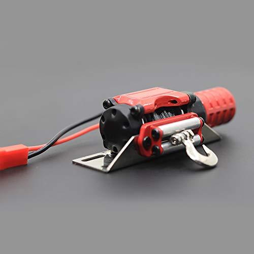 Red Mouchao El cabrestante el/éctrico de Metal y el Mando a Distancia inal/ámbrico se reciben para 1//10 RC Crawler Black