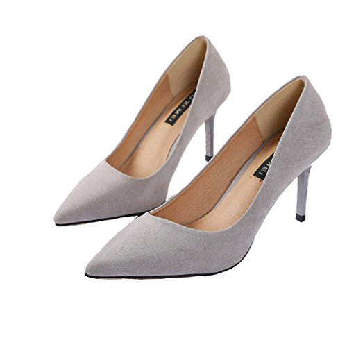 bombas ' gamuza zapato de Women punta color s sexy s tacones Xianshu de I5ZwqY44