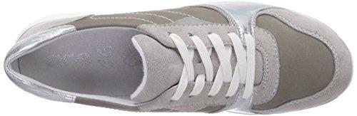 Cordones grigio 14 Grau Rio Gris Mujer kiesel Con silber Zapatos Ara Cuero De UgTRWtwq