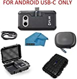 FLIR ONE Pro LT Thermal Imaging Camera Android USB-C ONLY Bundle with Rugged Waterproof Case and Cleaning Cloth (NOT iPhone)