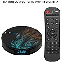 Dishykooker Android 9.0 Smart TV Box Google Assistant RK3328 TV Receiver 4K WiFi Media Player Play Store Free Apps Fast Set Top Box (4G+32G;EU Plug)