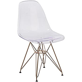 Amazon Com Flash Furniture Elon Series Ghost Chair With
