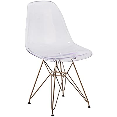 Flash Furniture Elon Series Ghost Chair with Gold Metal Base -  - kitchen-dining-room-furniture, kitchen-dining-room, kitchen-dining-room-chairs - 41X5%2BW9Cg4L. SS400  -
