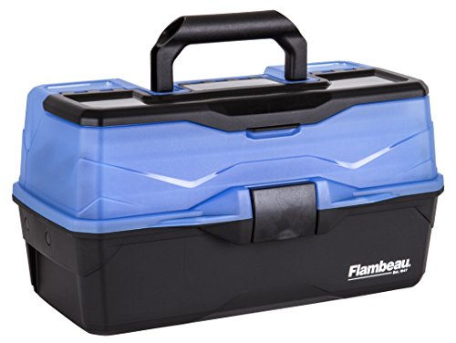 Flambeau Outdoor 6383 Classic 3-Tray Tackle Box, Frost Blue/Black