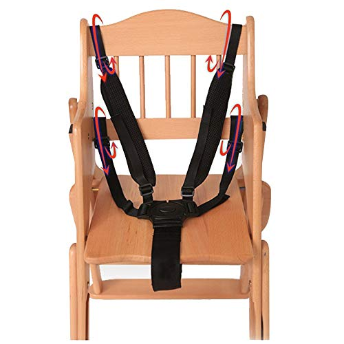 (HPCZZ Universal 5 Point Harness Baby Safety Seat Belts for Stroller High Chair Baby Kids Safe Protection Seat Stroller Belt)
