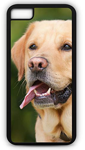 iPhone 7 Case Labrador Retriever Lab Gun Dog Golden Light Brown Customizable by TYD Designs in Black Plastic ()