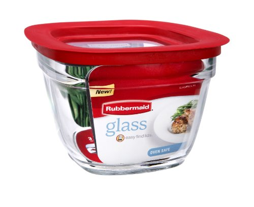 5 5c sq glass container