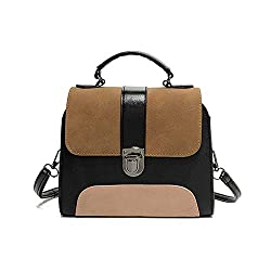 Popular Female Metal Hasp Cover Pu Leather Shoulder Handbag Ladies Tote Bag Delicate Crossbody Bag Brown