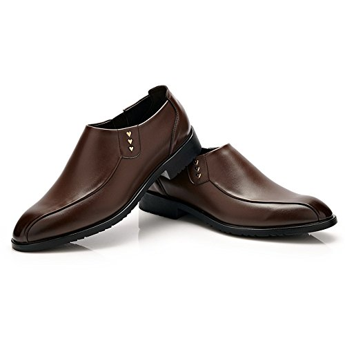 Scsy Pu Oxford Soft Slip Matteado Negocios De zapatos Formal Marrón Oxfords Hombre Sole Cuero Mocasines on rAFxrqU