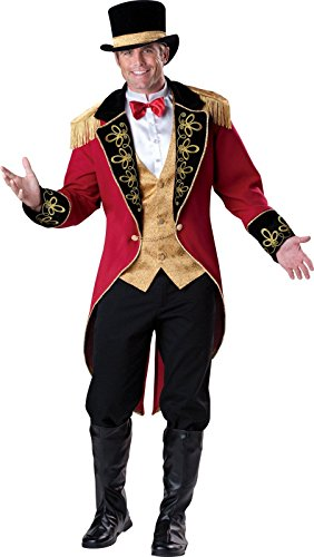 InCharacter Costumes Men's Ringmaster Costume, Red Gold/Black, Large