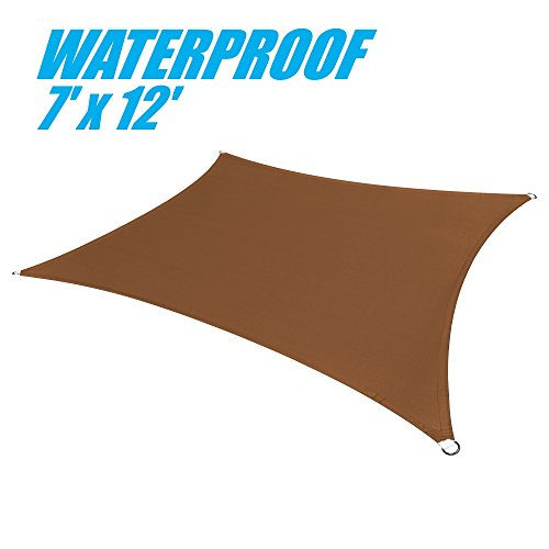 ColourTree 7' x 12' Brown Coffee Waterproof