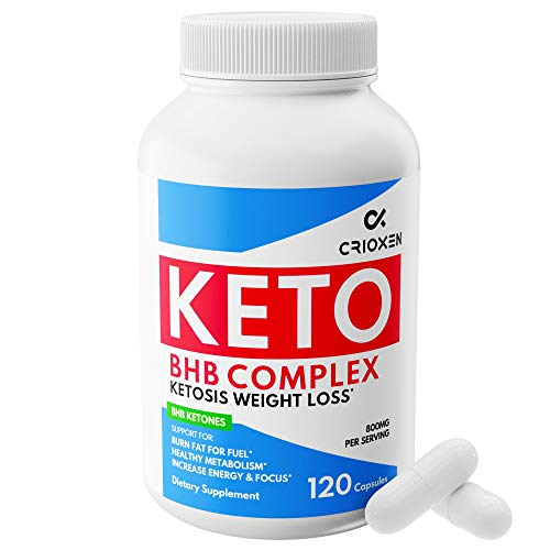 Keto Pure Diet Pills [120 Capsules] - Advanced Keto Supplement Pure BHB Exogenous Instant Ketones Salts to Kickstart Ketosis Burning Fat Boost Energy and Focus for Men and Women (Best Carb Blockers 2019)