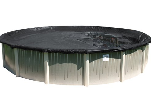 (Buffalo Blizzard Deluxe Winter Cover for 33-ft Round Above Ground Swimming Pools | Blue/Black Reversible | 3-ft Additional Material)