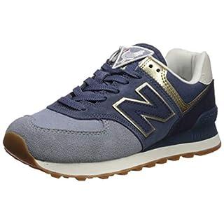 New Balance Women's 574v2 Sneaker, Reflection/Light Gold, 6 W US