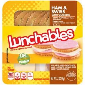 OSCAR MAYER LUNCHABLES HAM & SWISS CHEESE WITH CRACKERS 3.2 OZ PACK OF 5 by OSCAR MAYER At The Neighborhood Corner Store (Image #1)