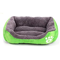 VGRTMISW Dog Beds Sofa Warming Pet Bed Soft Fleece Warm Dog Beds for Large Dogs Waterproof Pet Bedding Cat Bed House Petshop Light Green M