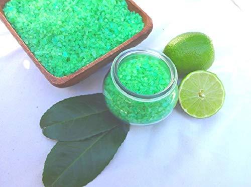 Badesalz Ginkgo Limette im Schmuck WECK-Glas, ohne Palmöl, von kleine Auszeit Manufaktur ohne Palmöl