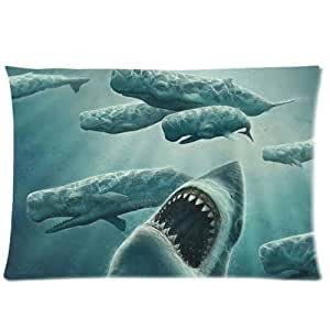 Best Custom Unique Underwater Predators Shark Pillowcase,Twin Sides Pillowcase Pillow Cover 20x30 inches