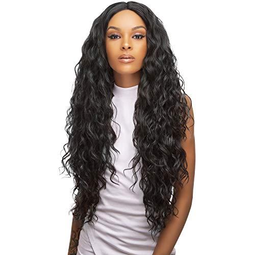 - Style Plus Human Hair Blend Lace Front Wig Cross Part Lace Curly [Vixen Lace Front Wig] (1)