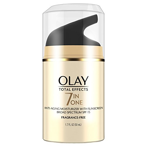 Olay Total Effects Anti-Aging Face Moisturizer with SPF 15, Fragrance-Free 1.7 fl oz - Anti Aging Normal Skin Moisturizer