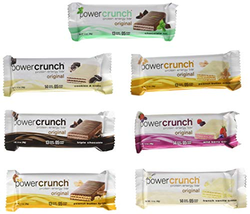 Power Crunch Original High Protein Energy Bar All Flavors Variety Pack (7 ()