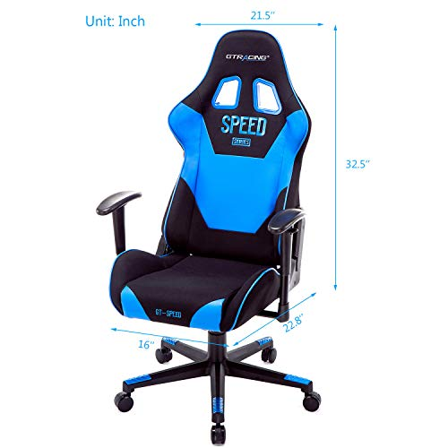Gtracing Gaming Chair Fabric Video Game Chair Heavy Duty