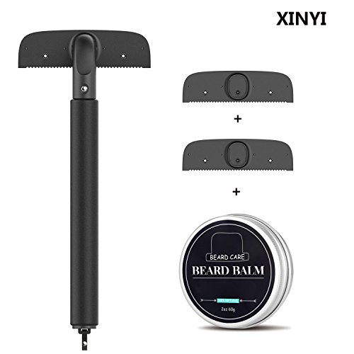 Price comparison product image XINYI Back Hair Removal and Body Shaver. Pain-Free Shave Back Razor Trimmer Body Grooming Tool Kit with Adjustable Handle and Safety Blades for Man and Woman & 2 replaceable blades